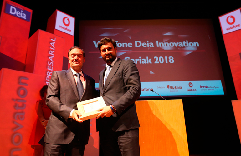 ERHARDT receives the prize for Business Innovation at the Vodafone-Deia Innovation Awards 2018